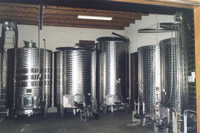 The cellar and the stainless stell vats